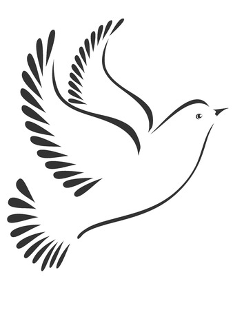 Dove or bird stylized