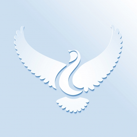 Stylized bird or dove