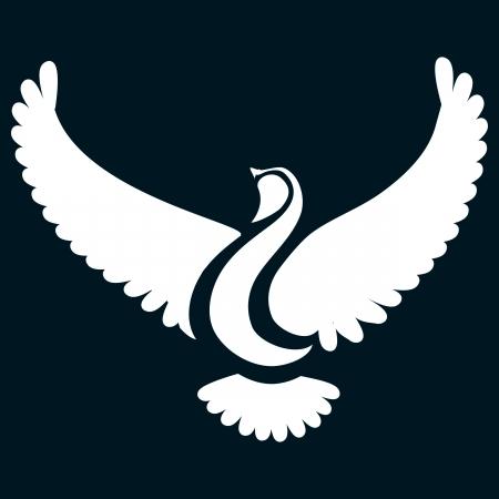 Stylizowany gołąbek lub ptaka Ilustracja