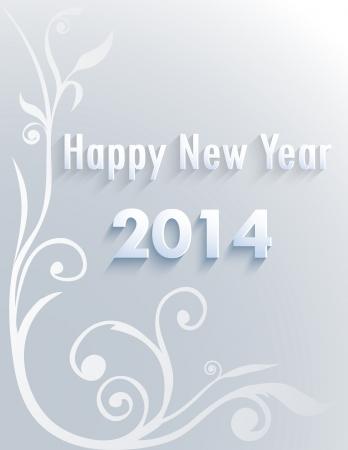 2013: Papier składany z Listu, Szczęśliwego Nowego Roku, monochromatyczne rysunki