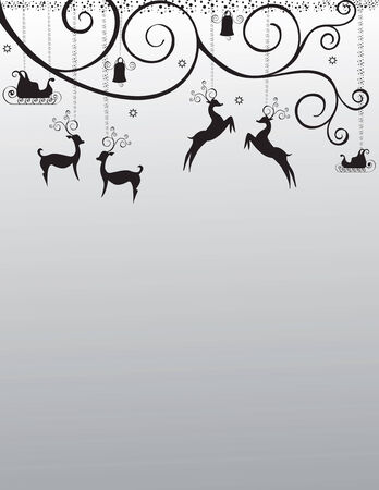 Greeting card, Christmas card, deer, and bell