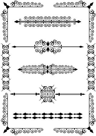 rule line: Victorian scrolls