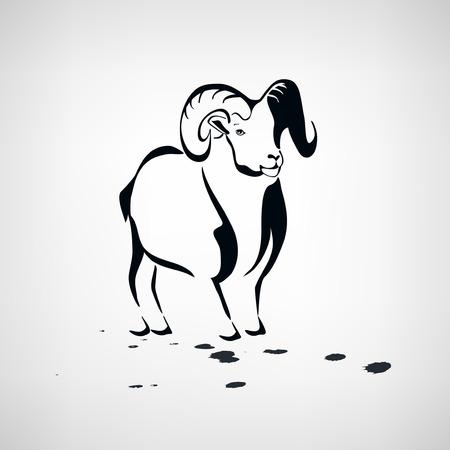 Owiec lub kóz stylizowane