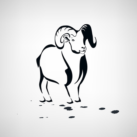 Sheep or goat stylized Vector