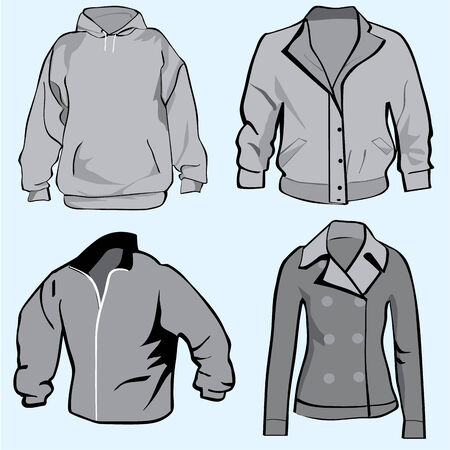 Jacket,hoodie,coat or sweatshirt template set or collection