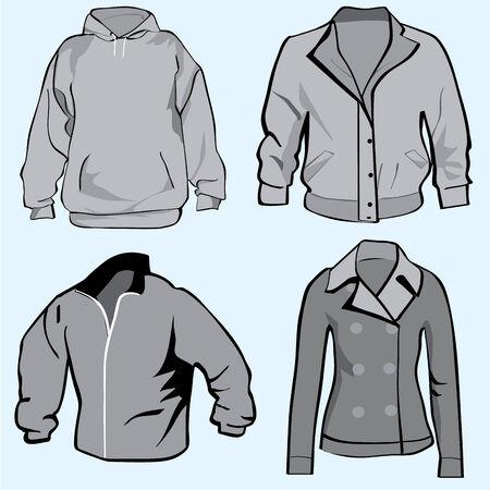 Jacket,hoodie,coat or sweatshirt template set or collection Zdjęcie Seryjne - 31704550