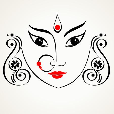 Durga illustration Banco de Imagens - 31850051