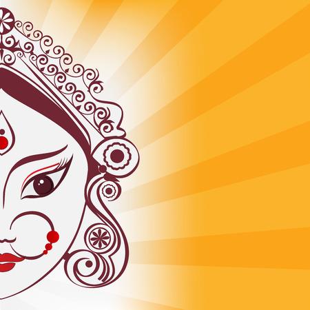 Durga illustration Иллюстрация