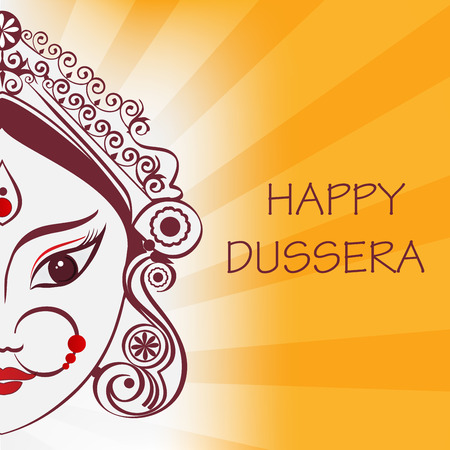 dussehra: Durga illustration Illustration