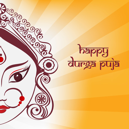 Durga illustration Illustration