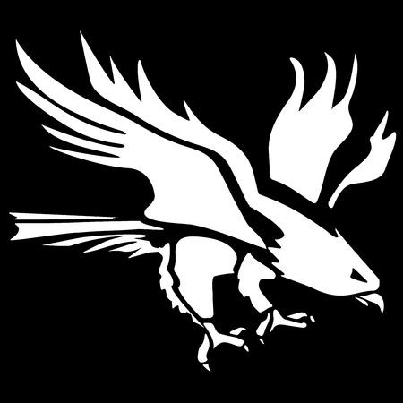 Eagle icon stylized silhouette Banco de Imagens - 32015849