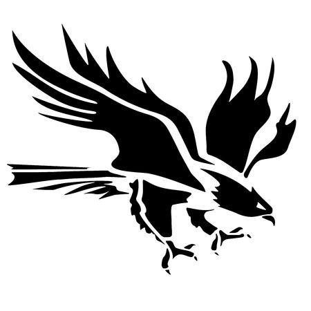 Eagle icoon gestileerde silhouet Stock Illustratie