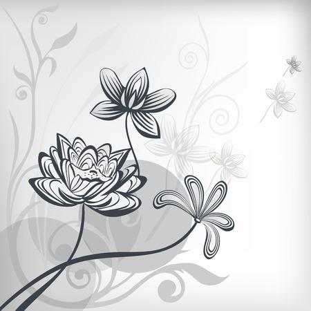 Stylized oriental lotus flowers. Banco de Imagens - 32041480