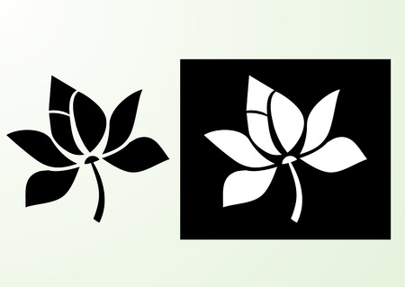 Lotus icon flower stylized