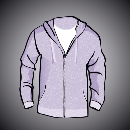 Jas met kap of sweatshirt template Stock Illustratie