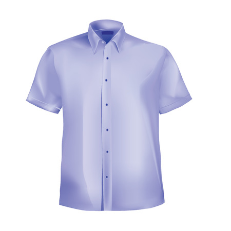 short sleeve: Formal shirt with button down collar