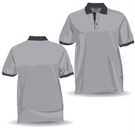 Tshirt, koszula z przodu iz tyłu z kołnierzem