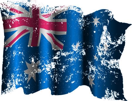 Australian grunge flag Banco de Imagens - 37045553