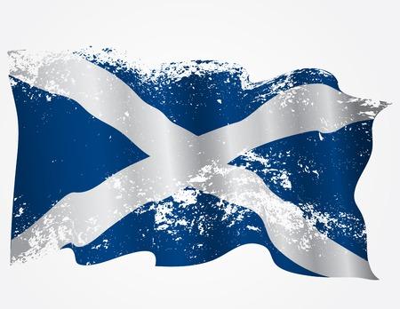 scottish flag: Scozia o scozzese bandiera grunge Vettoriali