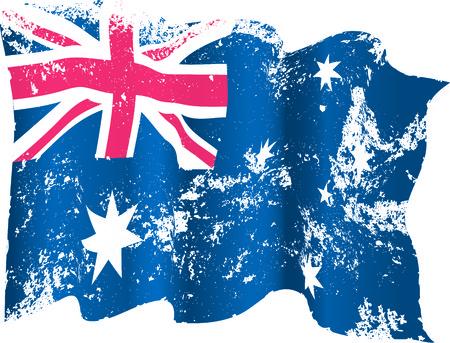 Australijski Flaga grunge.