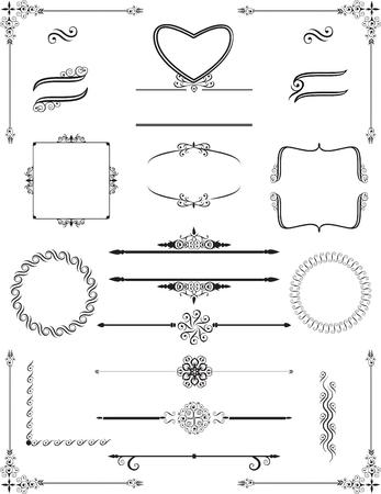marcos de estilo victoriano ornamentales.