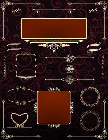 Ornamental victorian frames.