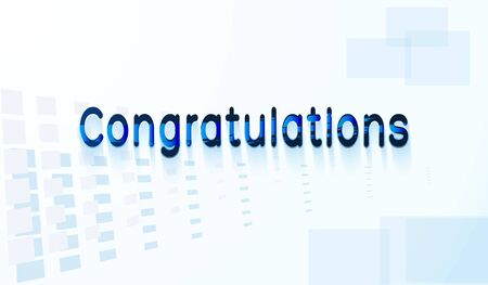 Congratulations text. Ilustração