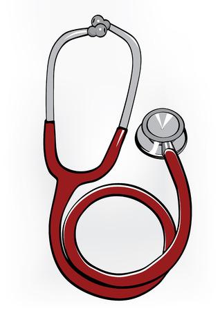 Stethoscope illustration Ilustração