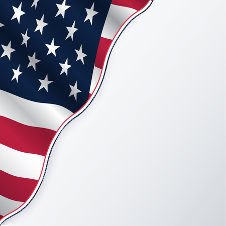 USA flag with copyspace. Vector.