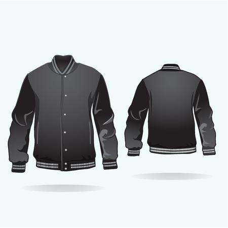front: Varsity jacket.