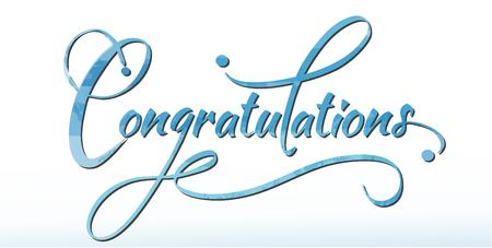 congratulations: Felicidades caligrafía en acuarelas pintura.