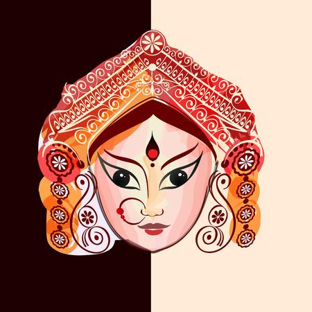 Durga, Saraswati, Lakshmi in hand drawn style.
