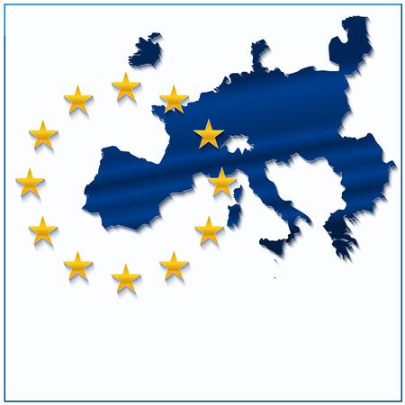 イギリスを除く状態数の新しい 27 の欧州連合地図。ベクトルの図。