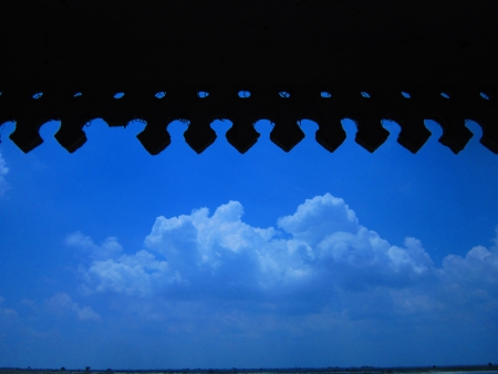monsoon cloud seen from portico photo
