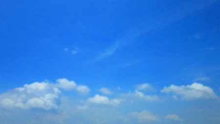 deep blue sky photo
