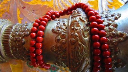 bodhgaya: Objects used for worship or prayer as found at Nyingma monlam chenmo international foundation monastery buddhagaya  BODHGAYA, BIHAR, INDIA, Asia  Stock Photo