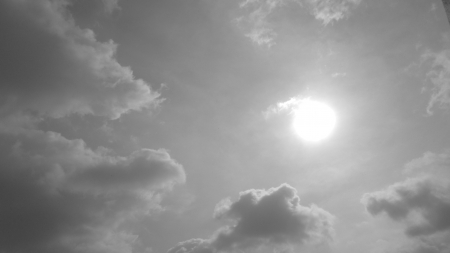 SKY WITH CLOUDS- IN BLACK AND WHITE photo