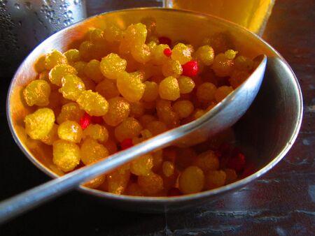 Bundi a sweet dish from India