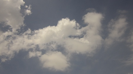 stupendous: SMALL CLOUDS IN NICE SKY Stock Photo