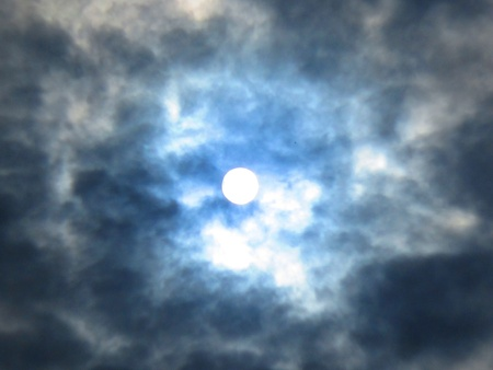 stupendous: SUN COVERED BY CLOUDY BLUE CLOUD