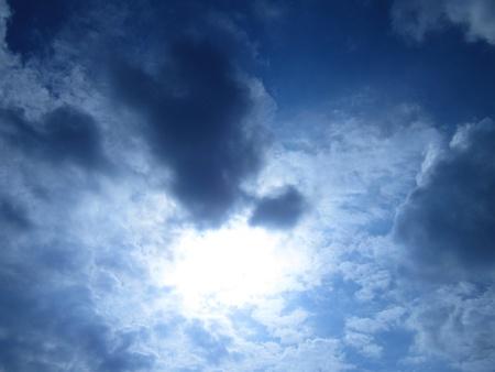 stupendous: BRIGHT SUNNY SKY BLUE Stock Photo