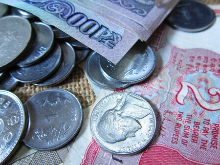 INDIAN MONEY AND COINS OF OTHER COUNTRIES photo