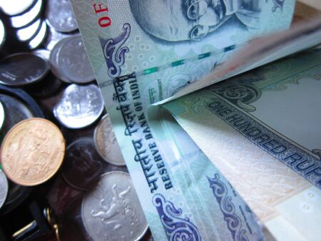 MONEY AND COINS TOGETHER Zdjęcie Seryjne