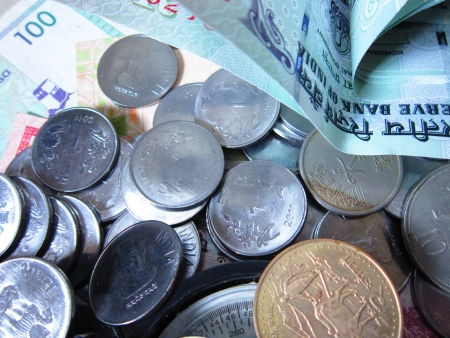MONEY AND COINS TOGETHER photo