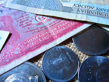moksha: COINS OF DIFFERENT COUNTRIES  AND MONEY OF DIFFERENT COUNTRIES Stock Photo