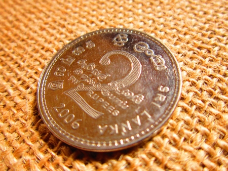 moksha: SRILANKAN COIN Stock Photo