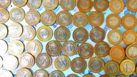 international trade commission: COINS Stock Photo