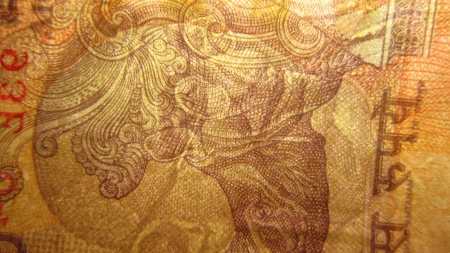 CLOSE VIEW OF INDIAN MONEY photo
