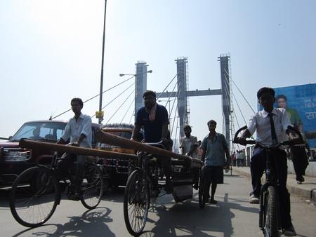 overbridge: CHIRIYATAND OVERBRIDGE, SHOWING ECONOMIC GROWTH OF BIHAR. SHOT AT 0931 AM AT PATNA, BIHAR, ASIA, INDIA. Editorial