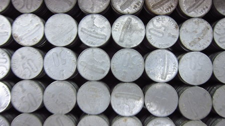 COINS ARRANGED photo